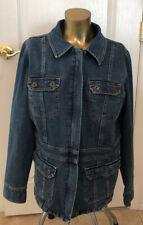 High Sierra Denim Jean Jacket Fitted Size Large Women's
