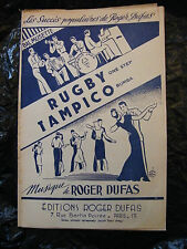 Partition Rugby Tampico Roger Dufas 1951 One Step Rumba