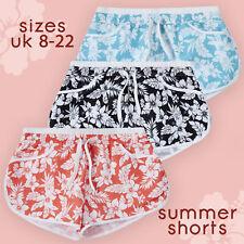 Ladies Beach Swimming Flower Print Shorts Summer Hot Pants UK Floral Size 8-22