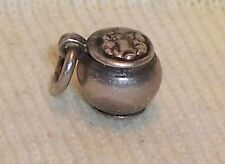 VINTAGE Sterling Silver Miniature POT of GOLD at the END of the RAINBOW Charm