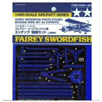 Tamiya 61069 Fairly Swordfish Floatplane Photo Etched Bracing Wire Set 1/48