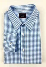 UNTUCKit  Baby Blue White Micro Check Dress Casual Shirt 100% Cotton XL