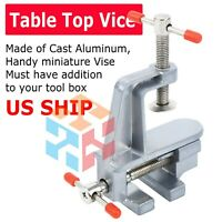 "New 3.5"" Bench Vise Stationary Swivel Locking Base Table top Clamp Vice"