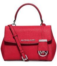 Michael Kors XS Ava Bright Red Top Handle Satchel Crossbody