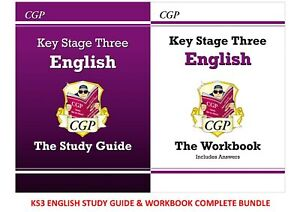 KS3 ENGLISH STUDY GUIDE AND WORKBOOK INCLUDES ANSWERS UPTO DATE 2 BOOK BUNDLE