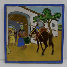 Large Don Quixote Spanish Tile by Ramos Rejano