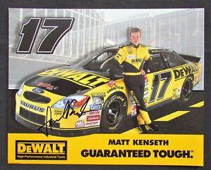 2000 Matt Kenseth Autograph - Nascar Winston Cup #17 DeWalt / Roush Racing