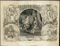 Christmas Window Shopping Wholesome Family Moments 1870 antique engraved print