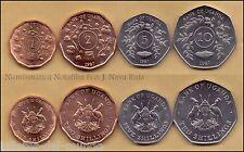 B-D-M Uganda Set 1 2 5 10 Shillings 1987 Km 27 28 29 30 SC UNC