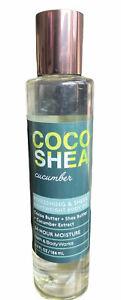 BATH & BODY WORKS Lightweight Body Oil COCO SHEA CUCUMBER 6.3 fl oz
