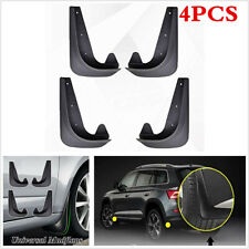 4Pcs Universal EVA Plastic Car Mud Flaps Splash Guards Front&Rear Fender 28x15cm