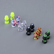 12Pcs Fake Cheater Illusion Ear Plug Tunnel Stretcher Earrings Stud Barbell