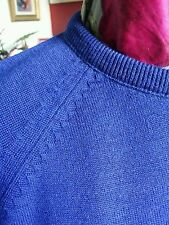 Vintage 50s 60's Wool Crew Neck Jumper Sweater.Ivy League Mod Rockabilly.Large.