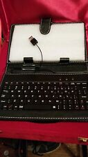 "New Black USB Keyboard Leather Stand Cover Case+Stylus  7""  Control Tablet."