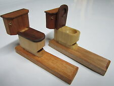 novelty tobacco pipe wooden handmade toilet funny smoking pipe