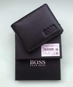 New Hugo Boss Men's Bifold Genuine Leather Wallet Card, Note and Coins