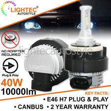BMW E46 3 SERIES FANLESS H7 LED HEADLIGHT BULBS KIT CANBUS ERROR FREE NO ADAPTER