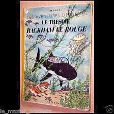 Tintin Rackham le Rouge Ancien Album Hergé B1 Edition Casterman 1946 vintage BD