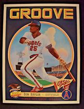 Baseball RARE Poster Angels Don Baylor MVP Groove California Art Print Vintage