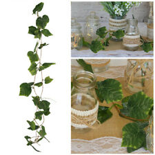 Grape Leaf Garland - 2.4m 36 Leaves Greenery Artificial Flowers Wedding Party