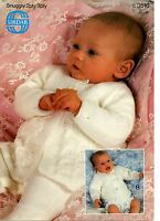"Sirdar 3516 Vintage Baby Knitting Pattern 2/3 ply Matinee Coats 12-16"" prem-3 m"