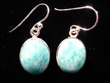 Amazonite Earrings - FREE Shipping, FAST Delivery, US SELLER, 925 Pure Silver