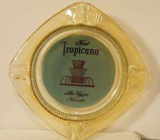 New ListingVintage Las Vegas Casino Hotel Ashtray ~ Tropicana ~ Turquoise & Carnival Glass