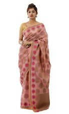 Silk Indian Saree Blouse Party Wear Wedding Designer Bridal Sari With Blouse