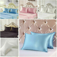 Soft 100% Mulberry Pure Silk Pillowcase Covers Queen Bedding Accessory