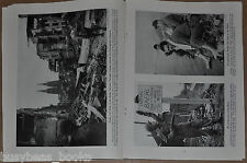 1945 magazine article about War's Destruction in the Rhineland, Germany WWII