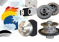 """1/2"""" Full Bullnose router polishing Pad fabricate granite countertop video USB"""