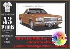 77-80 HZ HOLDEN UTE A3 ORIGINAL PERSONALISED PRINT POSTER CLASSIC RETRO CAR