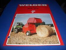 (Drawer 9) Welger RP12 RP15  Round Roll Balers Sales Brochure Farm Specs
