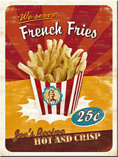 French Fries steel fridge magnet (na)