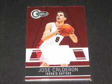 Jose Calderon Certified Authentic Game Used Jersey Basketball Card #201/249