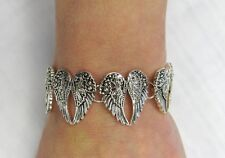 Silver Plated Angel Wings Charm Bracelet With Magnetic Clasp # 7626 Angel Wing