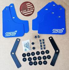 "[SR] 08-11 WRX & 2.5i Impreza Mud Flaps Set BLUE w/ Hardware Kit & ""STi"" Vinyl"
