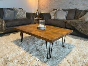 Rustic coffee table handmade solid wood scaffold  board