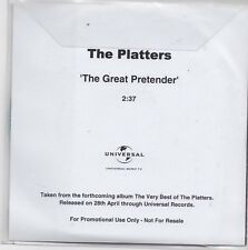The Platters-The Great Pretender promo cd single