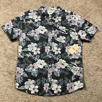 NWT Levi's Floral Print Short Sleeve Button Down Men's Shirt size Medium