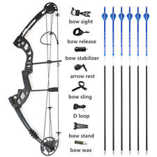 Compound Bow 30-55lbs Adjustable Carbon Arrows Kit Archery Bow Hunting Target