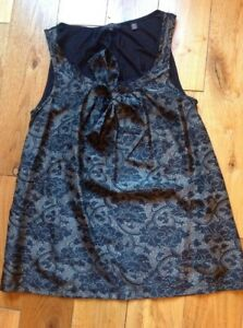 Women's Ted Baker Size 2 / Size 10 Black Top Silk Bow - great condition
