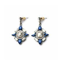 NEW Urban Anthropologie Maddie Rox Blue White Beaded Drop Earrings