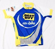 Atac cycling bike jersey women's XL blue white Best Buy logo