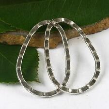 10pcs Tibetan Silver color egg shaped frame charms h2477