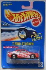HOT WHEELS 1989 BLUE CARD T-BIRD STOCKER #88 RED W+