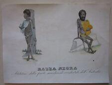 1845 COSTUMI ABORIGENI Marmocchi Western Australia Aboriginal costume Perth