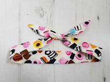 Baby Head Scarf - Cream Liquorice Allsorts - Cotton Bib Baby Shower Bandana Bib
