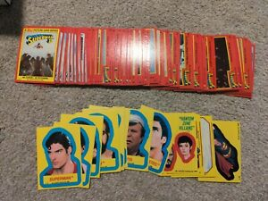 1980 Topps Superman 2 2nd Movie  Complete Set 88 Cards / 22 Stickers