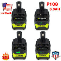 6.0Ah 18 VOLT P108 for RYOBI 18V ONE+ PLUS Lithium High Capacity Battery P104 US